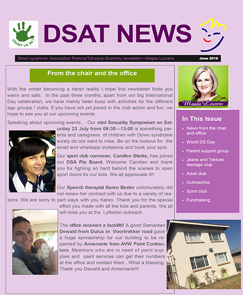 DSAT News – From the chair and the office