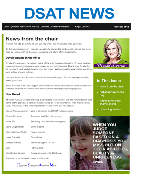 DSAT News – News from the chair