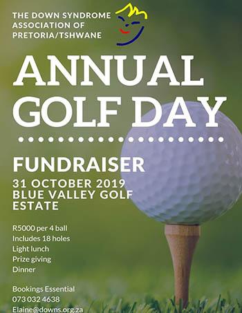 Down Syndrome Association Pretoria Golf Day Invite
